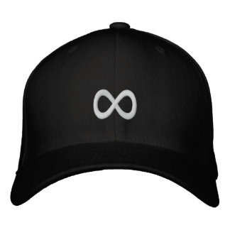 White Infinity Symbol Embroidered Hats