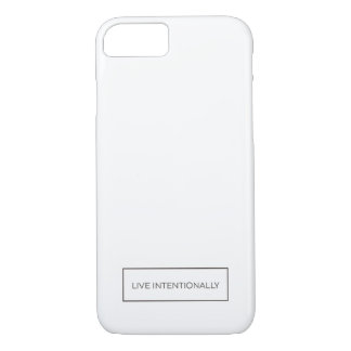 White iPhone 7 Case Live Intentionally Quote