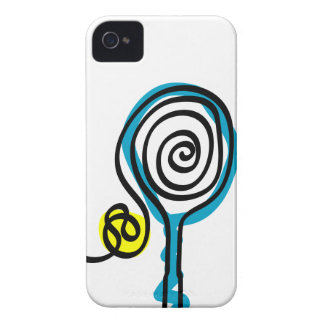 White iPhone case cover with tennis design iPhone 4 Cases
