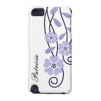 White iPod Touch 4g Case::Lavender Flowers iPod Touch (5th Generation) Cases
