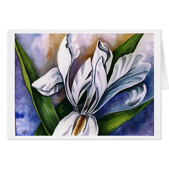 White Iris 2 by Barbara Beck-Azar Card