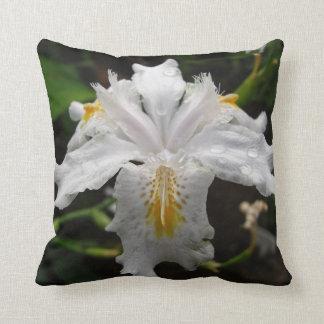 White Iris Cushion