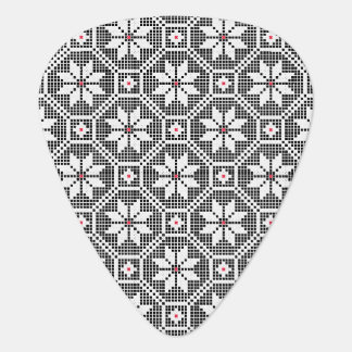White isolated lace on CUSTOMIZE black background Guitar Pick