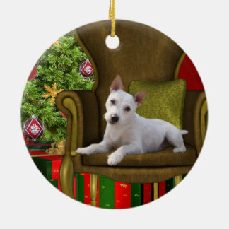 White Jack Russell Christmas Christmas Ornament