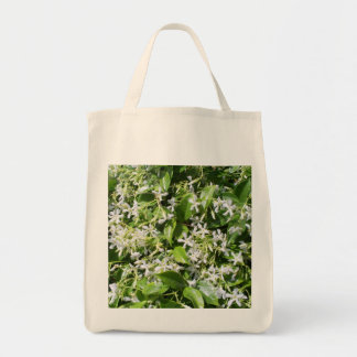 White Jasmine Flowers Grocery Tote Bag