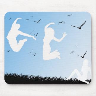 white jump Mousepad
