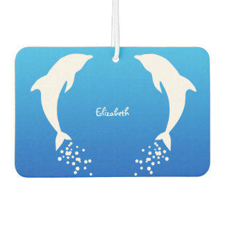 White Jumping Dolphin With Bubbles Air Freshener