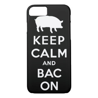 White keep calm and bacon iPhone 7 case