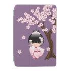 White Kimono Kokeshi Doll - Cute Geisha Girl iPad Mini Cover