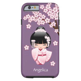White Kimono Kokeshi Doll - Cute Geisha Girl Tough iPhone 6 Case