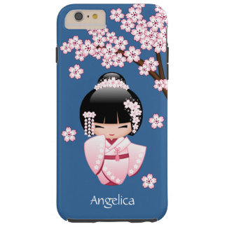 White Kimono Kokeshi Doll - Cute Geisha Girl Tough iPhone 6 Plus Case