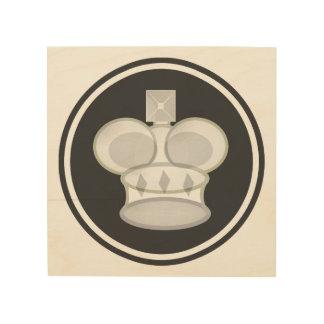 White King Chess Icon Wood Prints