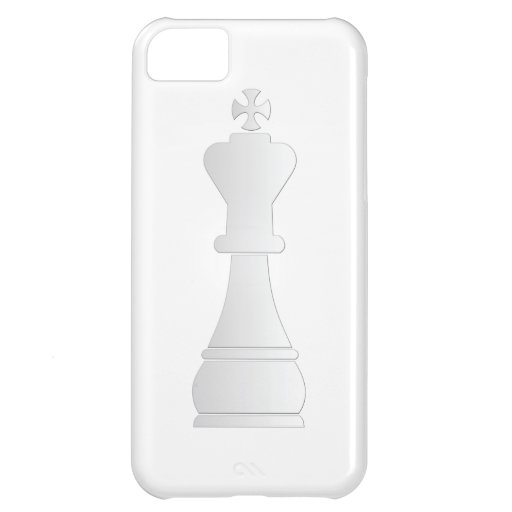 White king chess piece case for iPhone 5C