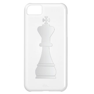 White king chess piece iPhone 5C case