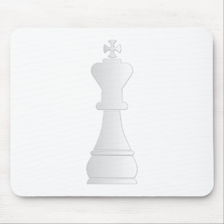 White king chess piece mouse mat