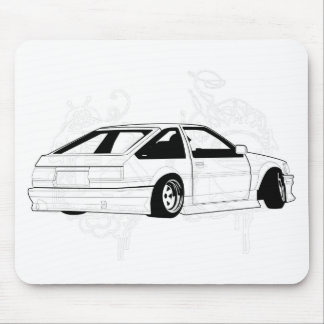 White KIS Levin AE86 Mouse Pad