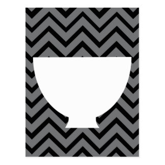 White-Kitchen - bowl on chevron. Postcard