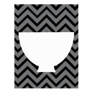 White-Kitchen - bowl on chevron. Post Cards