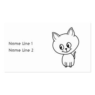 White Kitten Business Cards