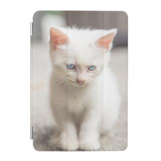 White Kitten iPad Mini Cover
