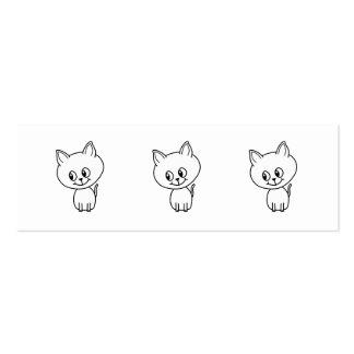 White Kitten. Pack Of Skinny Business Cards