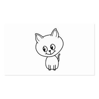 White Kitten. Pack Of Standard Business Cards