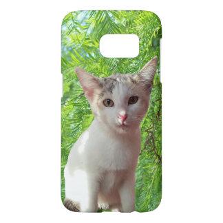White Kitten Photo Samsung Galaxy S7 Case