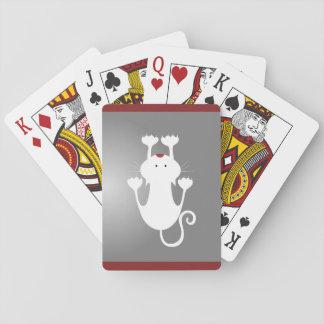 White Kitten Playing Cards