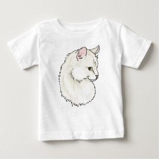 White Kitty Cat Face Baby T-Shirt