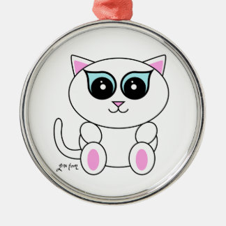 White Kitty Christmas Ornament