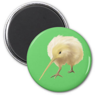 White kiwi bird Magnet