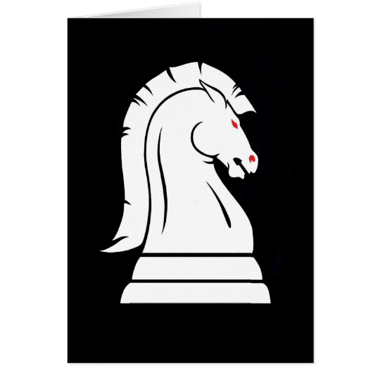 White Knight Chess Card