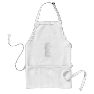 White knight chess piece aprons