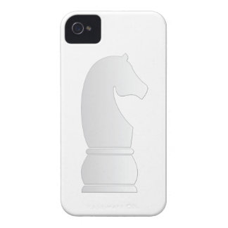 White Knight Chess piece Case-Mate iPhone 4 Cases