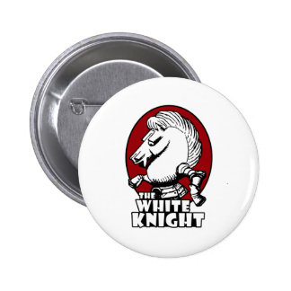 White Knight Logo Red 6 Cm Round Badge