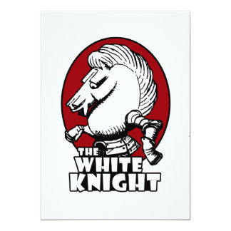 White Knight Logo Red Card