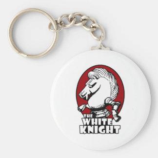 White Knight Logo Red Key Ring