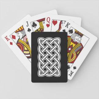 White Knot Black Poker Card