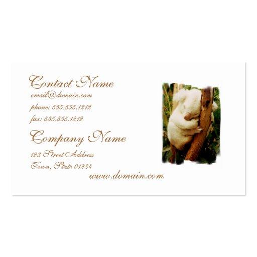 White Koala Bear Business Card