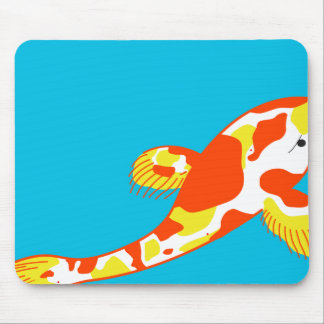White Koi Fish Mouse Mat