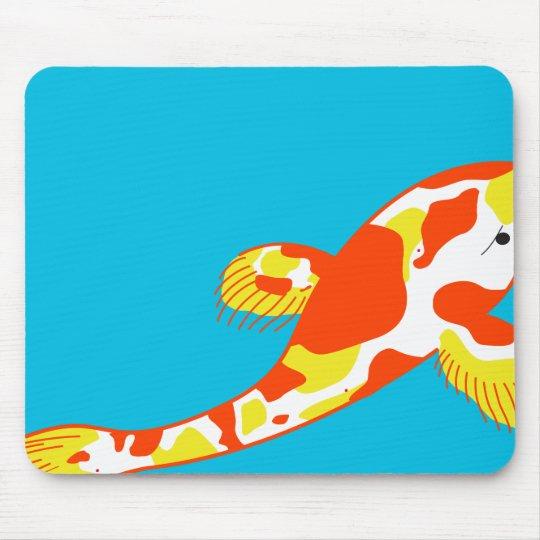 White Koi Fish Mouse Mat