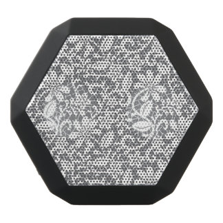 White Lace 1 Black Bluetooth Speaker
