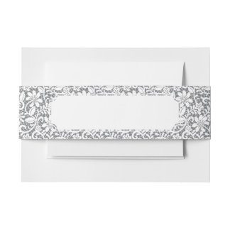 White Lace 1 Invitation Belly Band