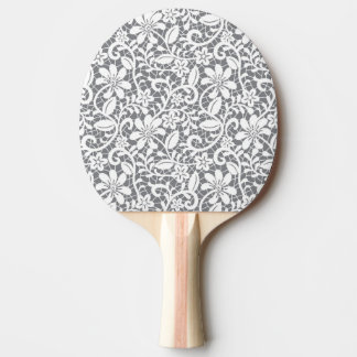 White Lace 1 Ping Pong Paddle