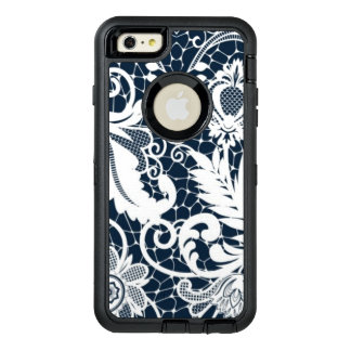 White lace 2 OtterBox defender iPhone case