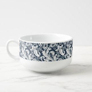 White lace 2 soup mug