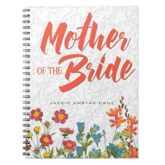 White Lace and Floral #1 Mother of the Bride Notebooks