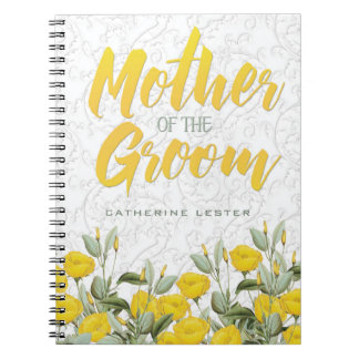 White Lace and Floral #2 Mother of the Groom Notebooks