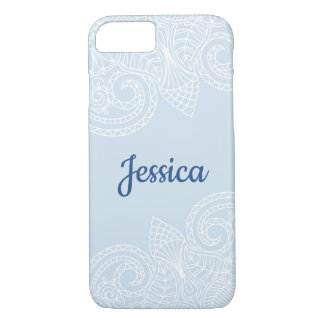 White Lace Blue Phone Case