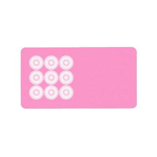 White Lace Design Pattern. Label